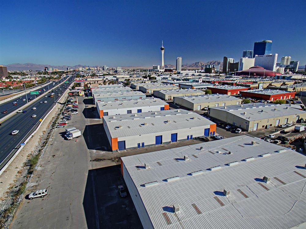 Highland Park industrial park for lease in Las Vegas
